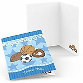 All Star Sports - Baby Shower Thank You Cards - 8 ct