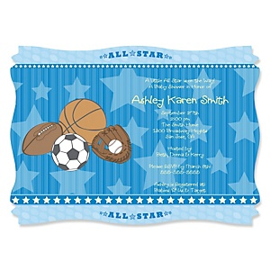 All star sports personalized baby shower invitations set of 12 all star sports personalized baby shower invitations set of 12 bigdotofhappiness filmwisefo