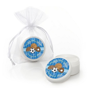 All Star Sports - Personalized Baby Shower Lip Balm Favors - Set of 12