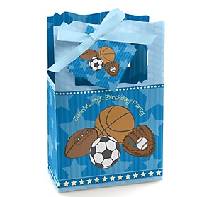 All Star Sports - Personalized Birthday Party Favor Boxes - Set of 12