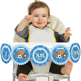 All Star Sports 1st Birthday - I am One - First Birthday High Chair Banner