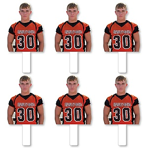Sports Photo Cutout Paddles - Custom Cut Out Photo and Fan Props - Upload 1 Photo - Picture Paddles - 6 Pieces