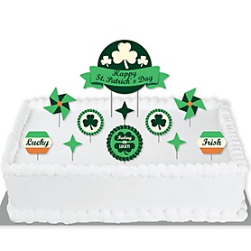 St. Patrick's Day - Saint Patty's Day Party Cake Decorating Kit - Happy St. Patrick's Day Cake Topper Set - 11 Pieces