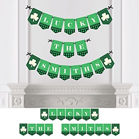 St. Patrick's Day - Personalized Saint Patty's Day Party Bunting Banner & Decorations