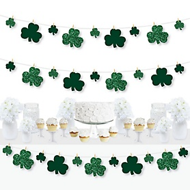 St. Patrick's Day - Saint Patty's Day Party DIY Decorations - Clothespin Garland Banner - 44 Pieces