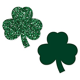 St. Patrick's Day - DIY Shaped Saint Patty's Day Party Paper Cut-Outs - 24 ct