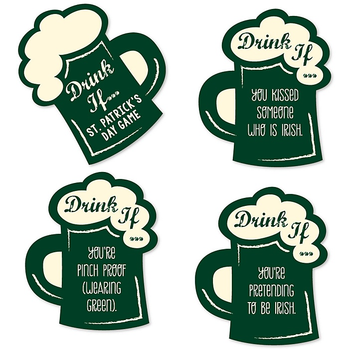 St. Patrick's Day  - Drink If Saint Patty's Day Party Game - Set of 24
