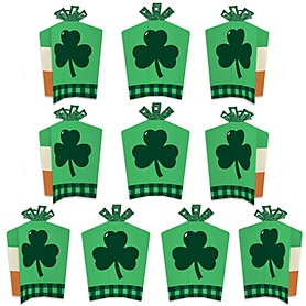St. Patrick's Day - Table Decorations - Saint Patty's Day Party Fold and Flare Centerpieces - 10 Count