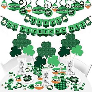 St. Patrick's Day - Saint Patty's Day Party Supplies - Banner Decoration Kit - Fundle Bundle