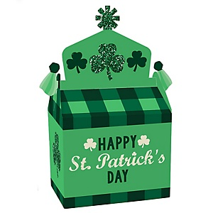 St. Patrick's Day - Treat Box Party Favors - Saint Patty's Day Party Goodie Gable Boxes - Set of 12