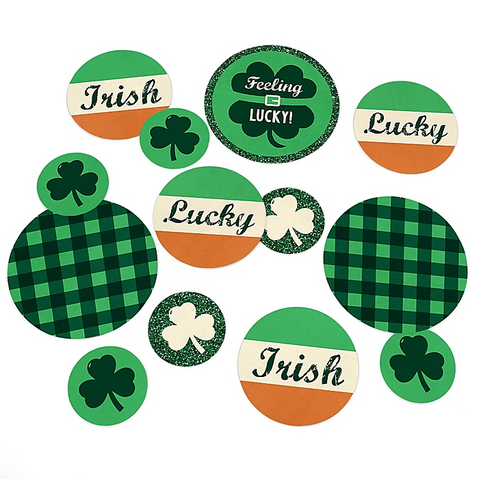 St. Patrick's Day  - Saint Patty's Day Party Giant Circle Confetti - St. Patrick's Day Party Decorations - Large Confetti 27 Count