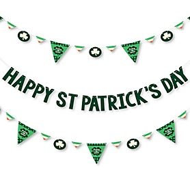 St. Patrick's Day - Saint Patty's Day Party Letter Banner Decoration - 36 Banner Cutouts and Happy St. Patrick's Day Banner Letters