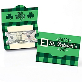 St. Patrick's Day - Saint Patty's Day Party Money and Gift Card Holders - Set of 8