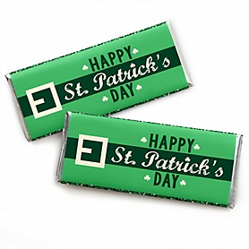 St. Patrick's Day -  Candy Bar Wrapper Saint Patty's Day Party Favors - Set of 24