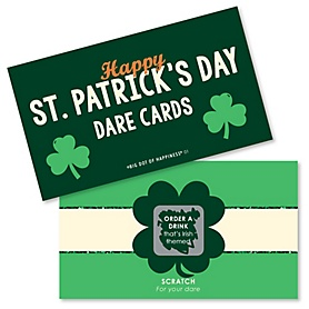 St. Patrick's Day - Saint Patty's Day Party Scratch Off Dare Cards - 22 Cards