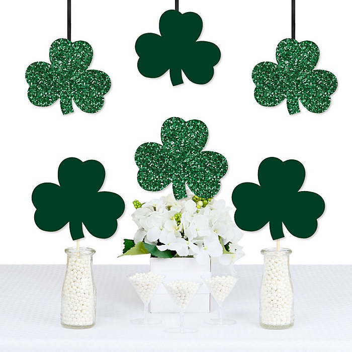 St. Patrick's Day - Shamrock Decorations DIY Saint Patty's Day Party Essentials - Set of 20