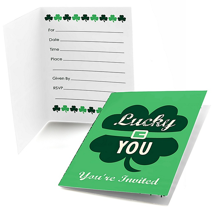 St. Patrick's Day - Fill In Saint Patty's Day Party Invitations - 8 ct