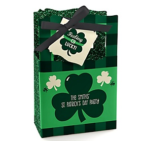 St. Patrick's Day - Personalized Saint Patty's Day Party Favor Boxes - Set of 12