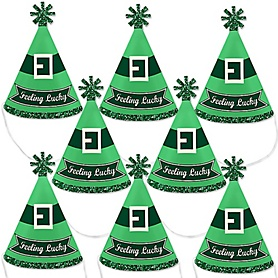 St. Patrick's Day - Mini Cone Saint Patty's Day Party Hats - Small Little Party Hats - Set of 8