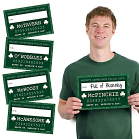 St. Patrick's Day - Party Mug Shots - 20 Piece St. Patrick's Day Photo Booth Props Kit