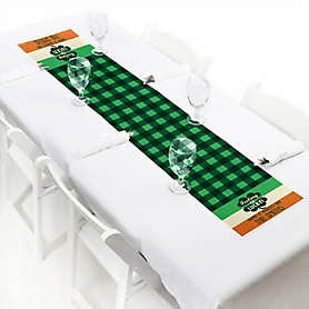 "St. Patrick's Day - Personalized Petite Saint Patty's Day Party Table Runner - 12"" x 60"""
