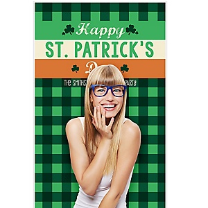 """St. Patrick's Day - Saint Patty's Day Party Photo Booth Backdrops - 36"""" x 60"""""""