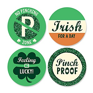 St. Patrick's Day - Assorted Saint Patty's Day Party Sticker Labels - 24 ct