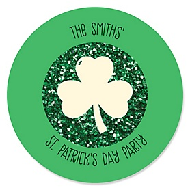 St. Patrick's Day - Personalized Saint Patty's Day Party Sticker Labels - 24 ct