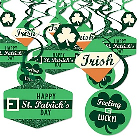 St. Patrick's Day - Saint Patty's Day Party Hanging Decor - Party Decoration Swirls - Set of 40