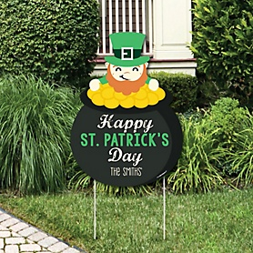 St. Patrick's Day - Saint Patty's Day Decorations - Personalized Saint Patty's Day Yard Sign
