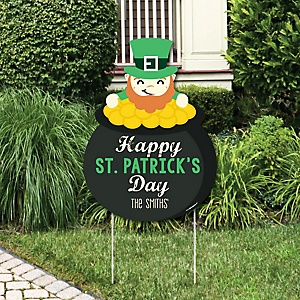 St. Patrick's Day - Saint Patty's Day Decorations - Personalized Saint Patty's Day Yard Sign