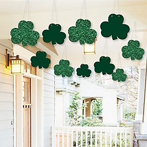 Hanging St. Patrick's Day - Outdoor Saint Patty's Day Party Hanging Porch & Tree Yard Decorations - 10 Pieces