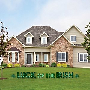 St. Patrick's Day - Yard Sign Outdoor Lawn Decorations - Saint Patty's Day Party Yard Signs - Luck of the Irish