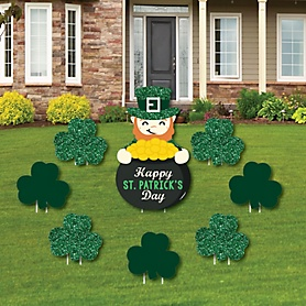 St. Patrick's Day - Yard Sign & Outdoor Lawn Decorations - Saint Patty's Day Party Yard Signs - Set of 8