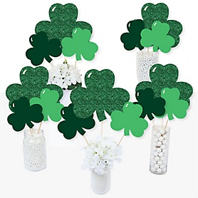 St. Patrick's Day - Saint Patty's Day Party Centerpiece Sticks - Table Toppers - Set of 15