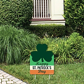 St. Patrick's Day - Outdoor Lawn Sign - Saint Patty's Day Party Yard Sign - 1 Piece