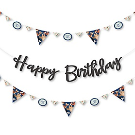 Stay Wild - Forest Animals - Woodland Birthday Party Letter Banner Decoration - 36 Banner Cutouts and Happy Birthday Banner Letters