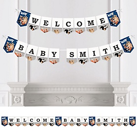 Stay Wild - Forest Animals - Personalized Woodland Baby Shower Bunting Banner and Decorations
