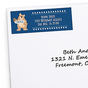 Stay Wild - Forest Animals - Woodland - Personalized Party Return Address Labels - 30 ct
