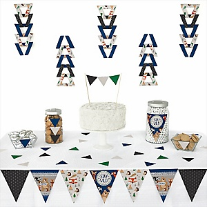 Stay Wild - Forest Animals - Triangle Woodland Party Decoration Kit - 72 Piece