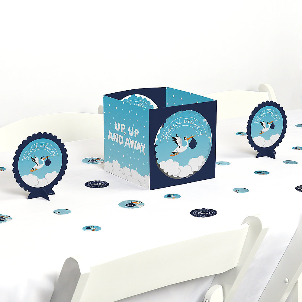 a064a82b87f0d Boy Special Delivery - It s A Boy Stork Baby Shower Centerpiece and ...