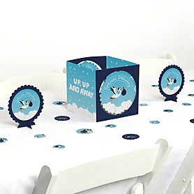 Boy Special Delivery - It's A Boy Stork Baby Shower Centerpiece and Table Decoration Kit