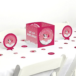 Girl Special Delivery - It's A Girl Stork Baby Shower Centerpiece and Table Decoration Kit