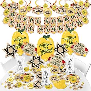 Sukkot - Sukkah Jewish Holiday Supplies - Banner Decoration Kit - Fundle Bundle