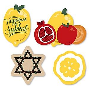 Sukkot - DIY Shaped Sukkah Jewish Holiday Cut-Outs - 24 ct