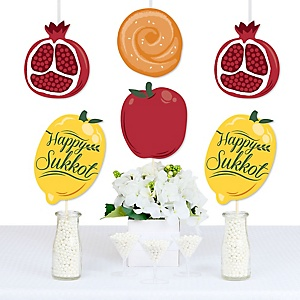 Sukkot - Apple, Pomegranate, Etrog and Challah Decorations DIY Sukkah Jewish Holiday Essentials - Set of 20