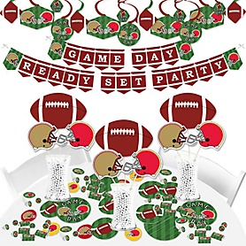 Super Football Bowl - Sports Game Day Party Supplies - Banner Decoration Kit - Fundle Bundle