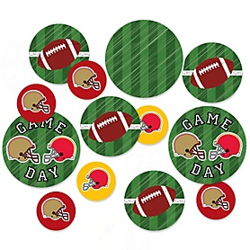 Super Football Bowl - Sports Game Day Party Giant Circle Confetti - Party Decorations - Large Confetti 27 Count
