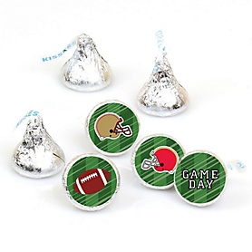 Super Football Bowl - Sports Game Day Party Round Candy Sticker Favors - Labels Fit Hershey's Kisses (1 sheet of 108)