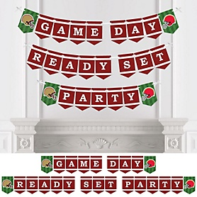 Super Football Bowl - Sports Game Day Party Bunting Banner - Party Decorations - Game Day Ready Set Party